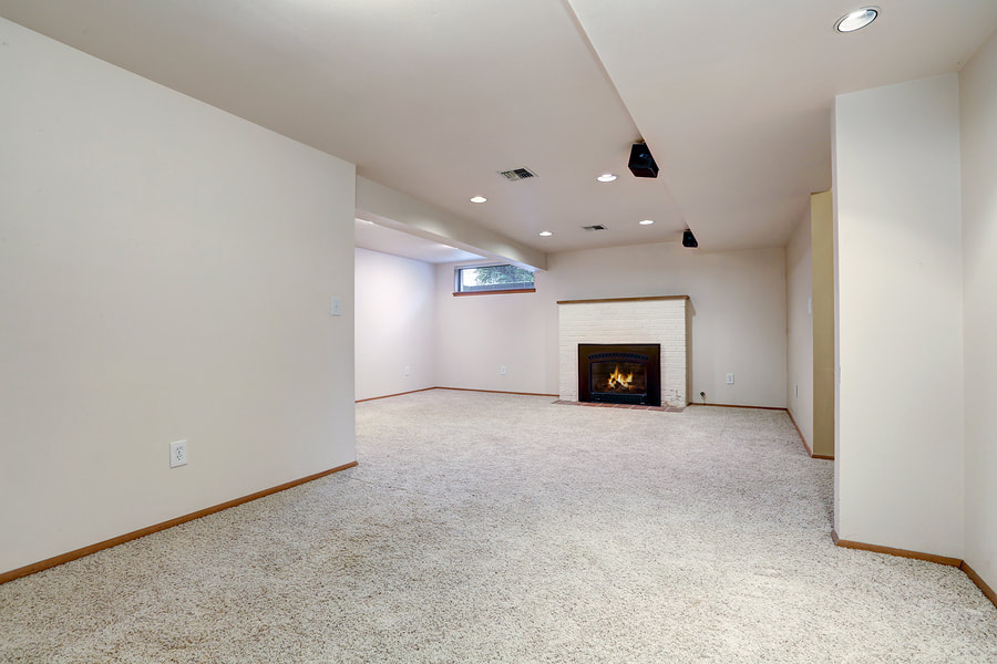 completed basement drywall project
